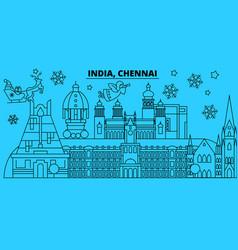 India chennai winter holidays skyline merry vector