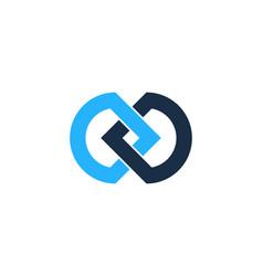 Infinity logo icon design vector