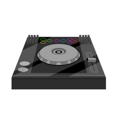 Isolated dj turntable vector