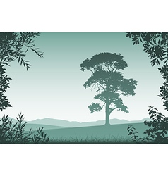 Landscape with Lone Tree vector image