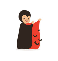 little boy dressed as a vampire cute kid in vector image