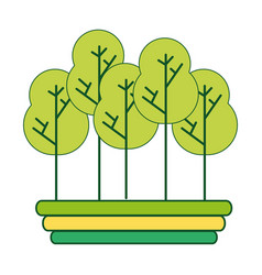 Naturals trees with branches ecology care vector