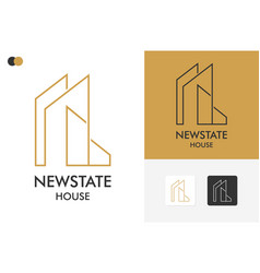 New state house logo template design vector