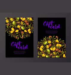 Oil background eco flyers design gift certificates vector