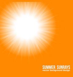 orange sun bright sunset sky orange background vector image