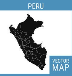 Peru map with title vector