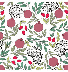 Pomegranate seamless background for design vector