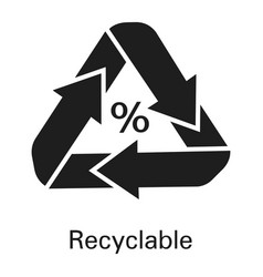 recyclable icon simple style vector image