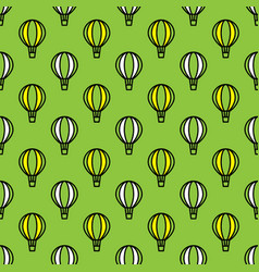 seamless air balloon pattern vector image