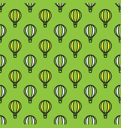 seamless air balloon pattern vector image