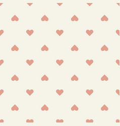 seamless pattern retro heart shape vector image