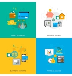set finance and money icons vector image