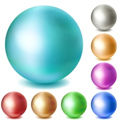 Set of multicolored matte spheres vector image