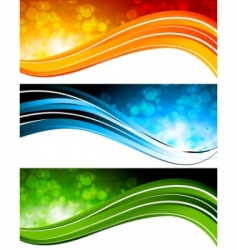 set tech banners vector image