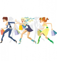 shopping maraton vector image