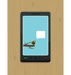 smart phone bird vector image