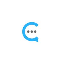 speech letter c logo icon design vector image