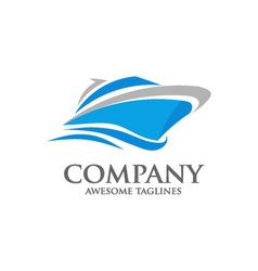 speed boat logo vector image