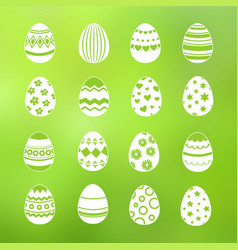 spring decorative eggs of set collection vector image