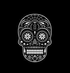 stencil decorative sugar skull vector image