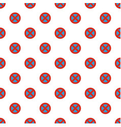 stop prohibited pattern seamless vector image