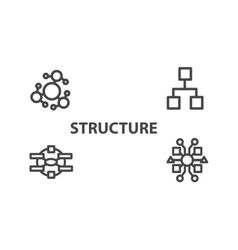 Structure icon from Business Bicolor Set vector image