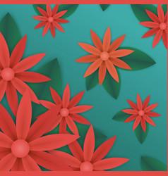 summer floral wallpaper vector image
