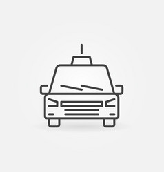 taxi concept outline icon or design element vector image