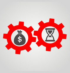time is money business flat icon vector image