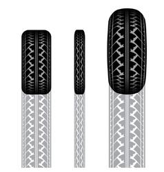 Tire track 1 vector