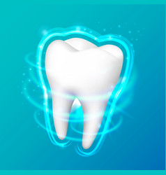 tooth on a black background vector image