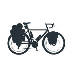 Touring bike silhouette vector