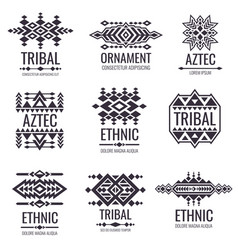 Tribal aztec pattern indian graphics for vector
