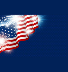 Usa 4th of july independence day design vector