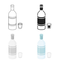 Vodka icon in cartoon style isolated on white vector