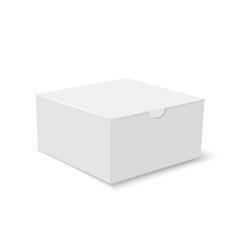 white cardboard square gift box vector image