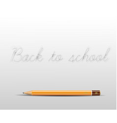 back to school poster with a pencil and space for vector image vector image