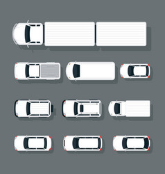 cars various type top or above view set vector image vector image