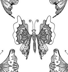 pattern with butterflies vector image vector image