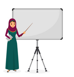 arabian businesswoman at a presentation standing vector image