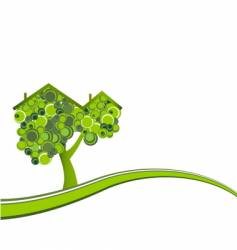 conceptual ecology theme vector image vector image