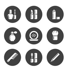 decorative cosmetic icon set vector image