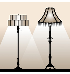 Floor lamps vector image vector image