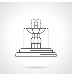 Fountain sculpture flat line icon vector