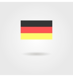 Germany flag with shadow vector image