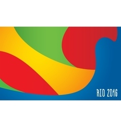 Summer olimpic games Rio 2016 background pattern vector image vector image