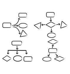 work flow chart symbol vector image