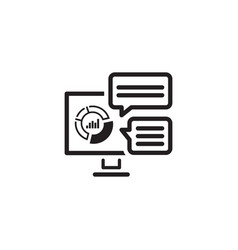 analytics system icon flat design vector image vector image