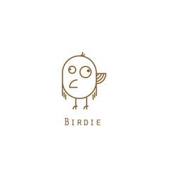 bird logo gold line style vector image vector image