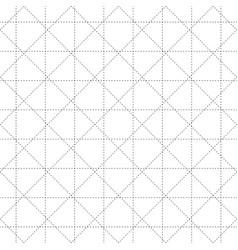 Black dash square and diamond seamless on white vector